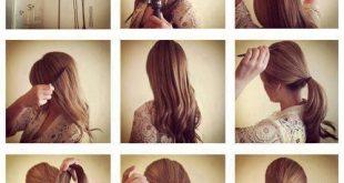 صورة تسريحات الشعر الطويل الحفلات