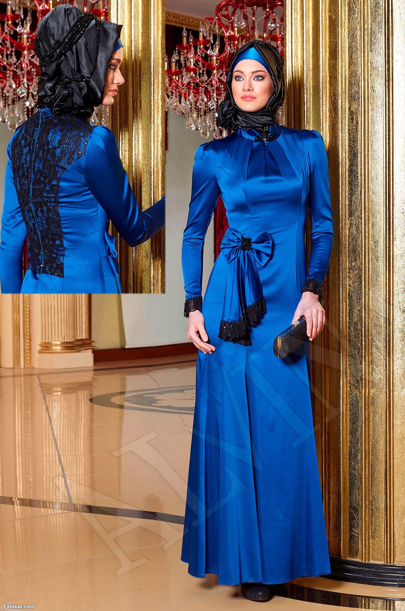 صورة ملابس محجبات للسهرة 2017