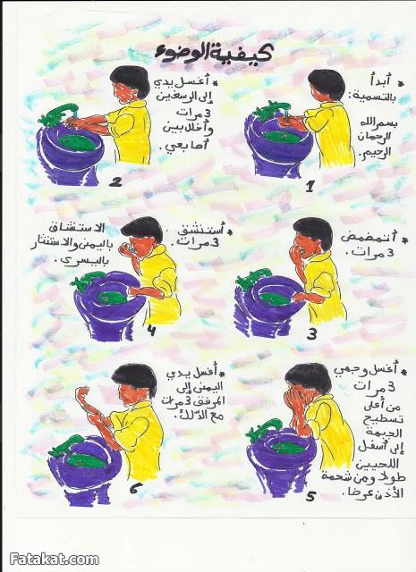 صورة صور تعليم الوضوء للطفل