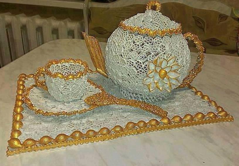 صورة اشغال يدوية منزلية للعروس