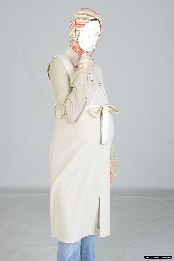 صورة ملابس حوامل محجبات صيف 2019