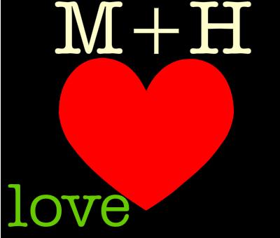 صورة صور مكتوب عليها m و h
