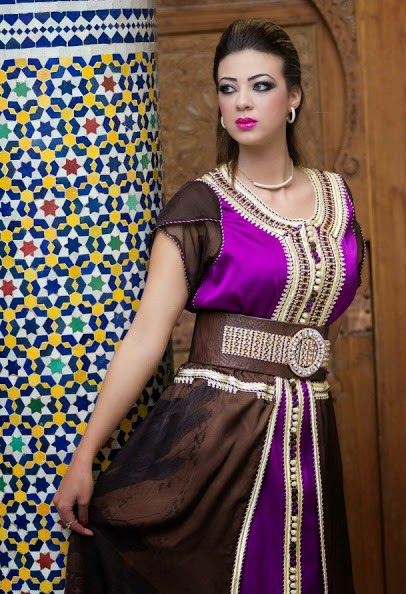 صورة قفطان مغربي 2020 احلى القفاطين المغربية الجديدة للسيدات