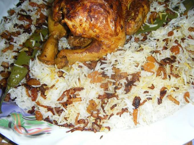 صورة رز ودجاج بالفرن بالصور