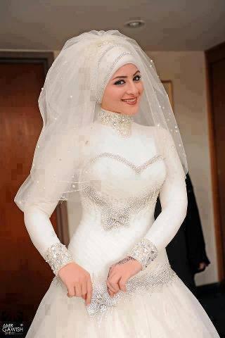 صورة عروسة محجبة 2020