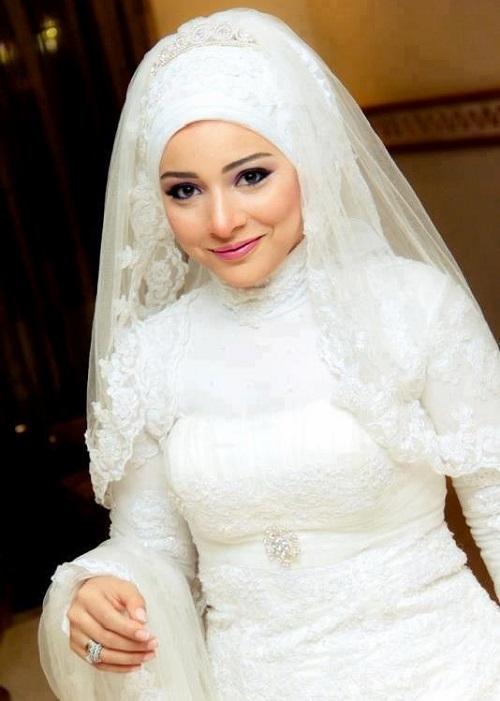 صورة عروسة محجبة 2017