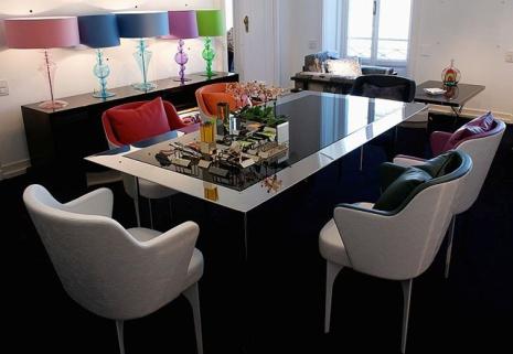 صورة طاولات زجاجيه 6 متر