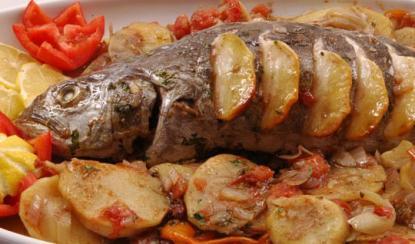صورة طريقة تحضير طاجن سمك بوري بالكاري