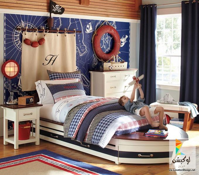 صورة غرف نوم خشب طبيعي