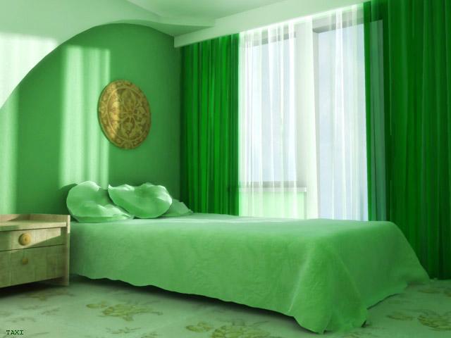 صورة ديكورات غرف نوم خضراء