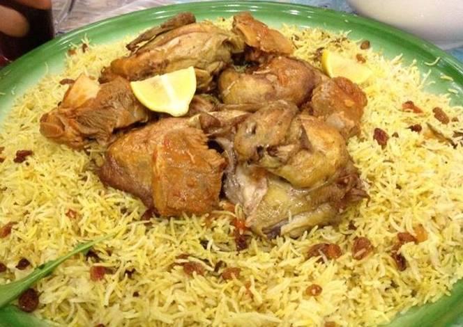 صور الكبسة السعودية بالدجاج