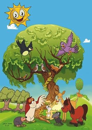 صورة قصة الغابة والثعلب