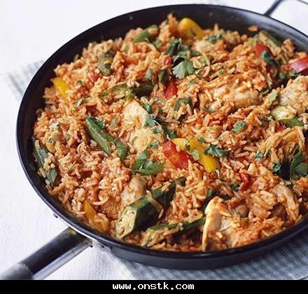 صورة اطباق الارز بالدجاج جزائرية