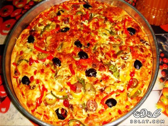 صورة طريقة تحضير البيتزا بالصور