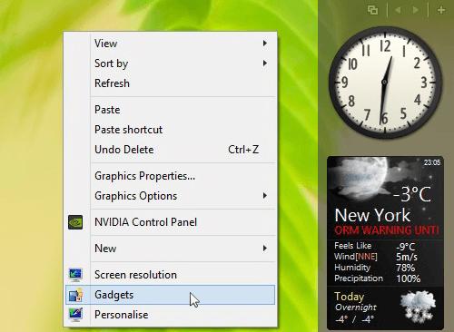 صورة تحميل ادوات ذكية لسطح المكتب ويندوز 7