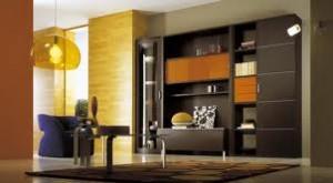 صور مكتبات تلفزيون خشب