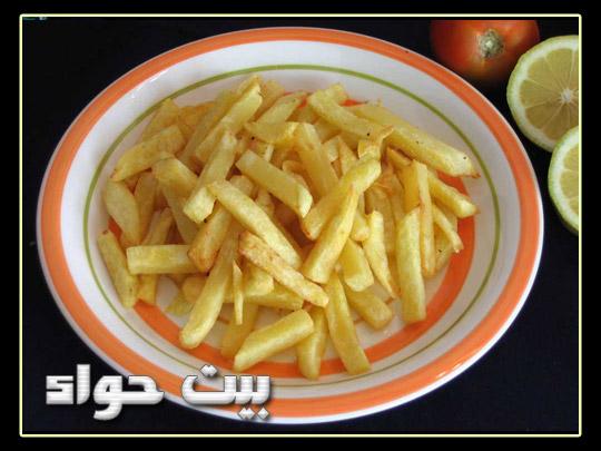 صورة البطاطس المقلية مثل المطاعم
