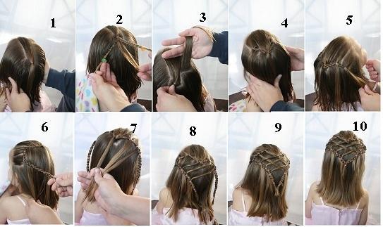 صور تعليم تسريحات الشعر للاطفال بالصور