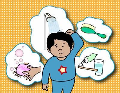 النظافة الشخصية للاطفال احلى بنات