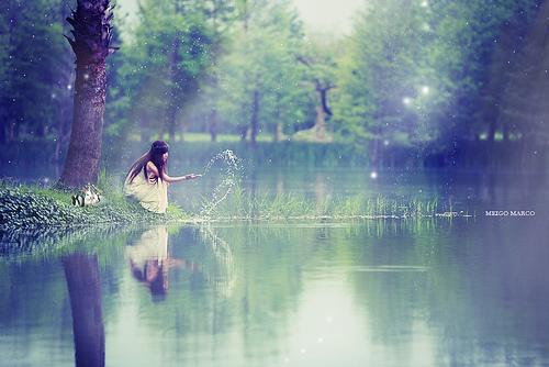 صور البحيرة في المنام