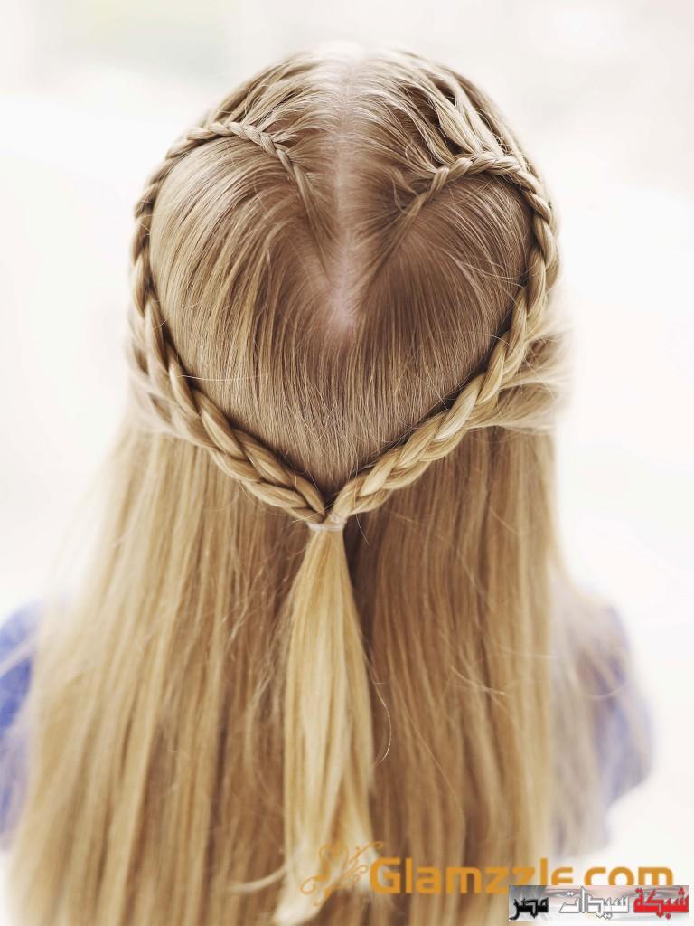 صورة ضفائر الشعر للبنات الصغار